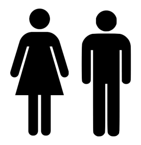 Bathroom - Male & Female Symbols
